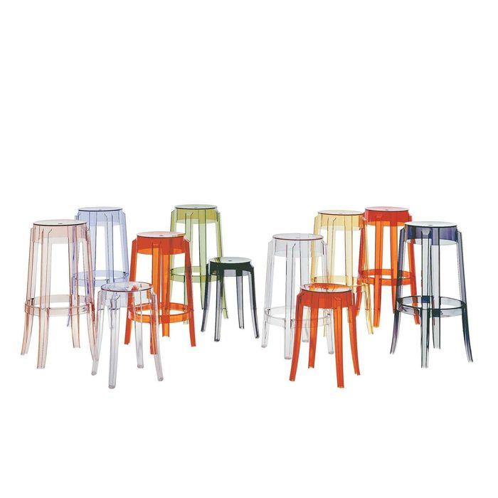 kartell|Charles Ghost Stool 65cm/查爾斯鬼魂系列 高腳椅 (白色)