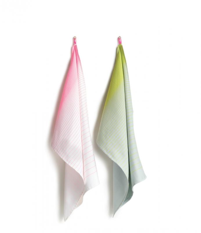HAY l S&B Tea Towels 廚房方巾系列(漸層粉\黃)