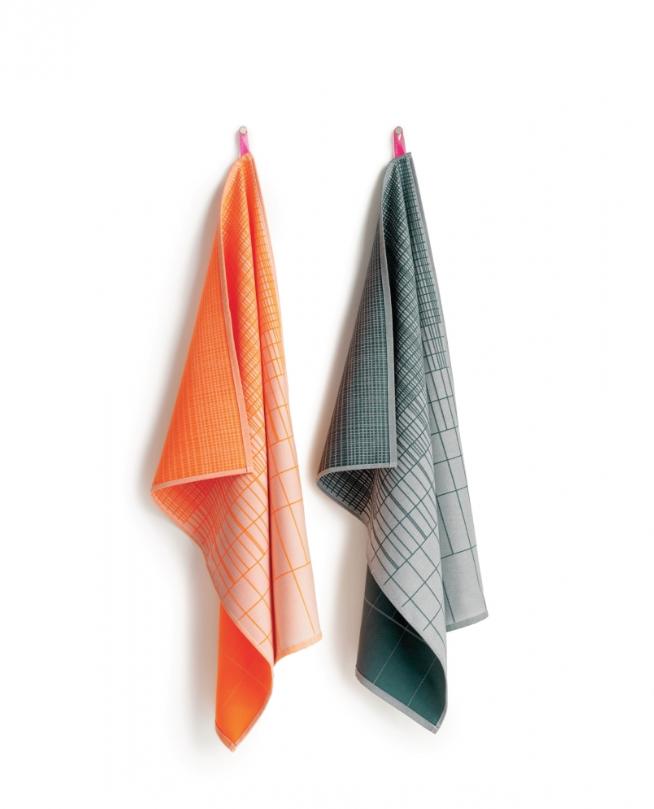 HAY l S&B Tea Towels Gradient 廚房方巾系列(橘\綠)