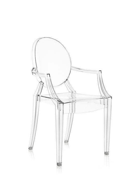 kartell|Louis Ghost/經典圓背扶手椅 (透明)