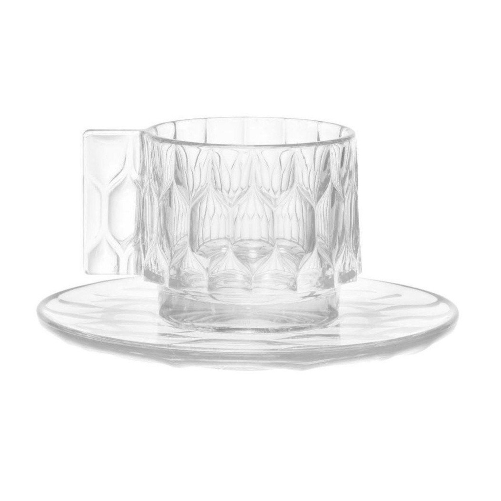 kartell|jellies coffee cup with saucer set/咖啡杯盤組 -crystal(透明)
