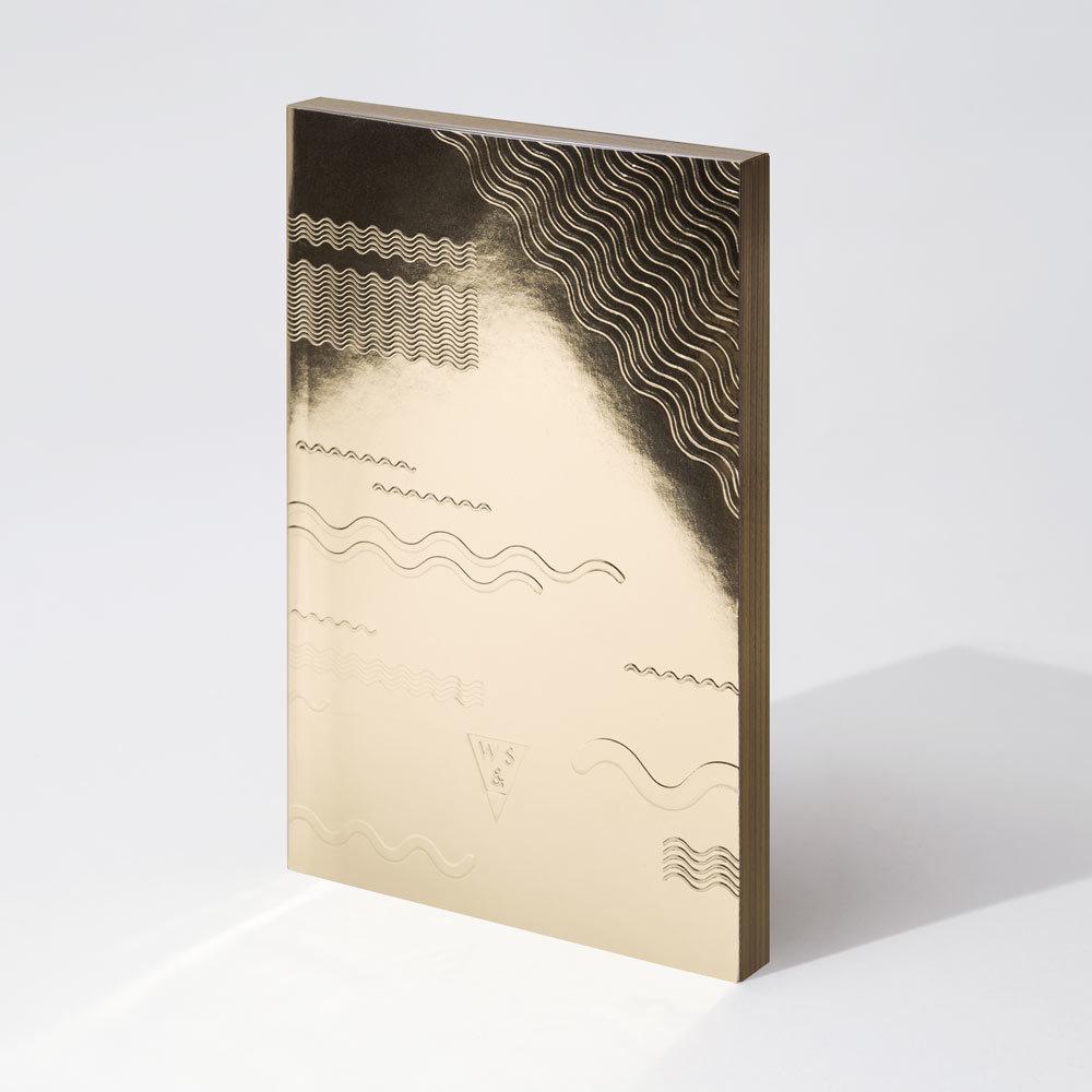 Write Sketch & | GOLD ONDE NOTEBOOK/金色金屬筆記本