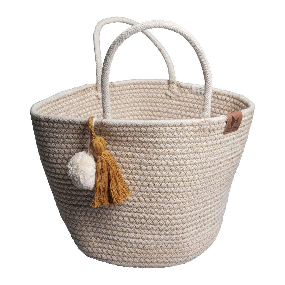 Fabelab l 薑黃流蘇編織遊戲籃Rope Basket- Ochre