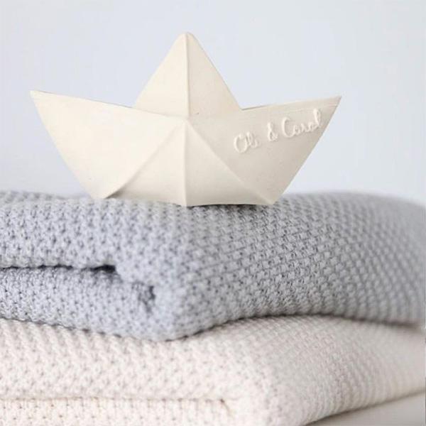 Oli&Carol|摺紙小船-粉白