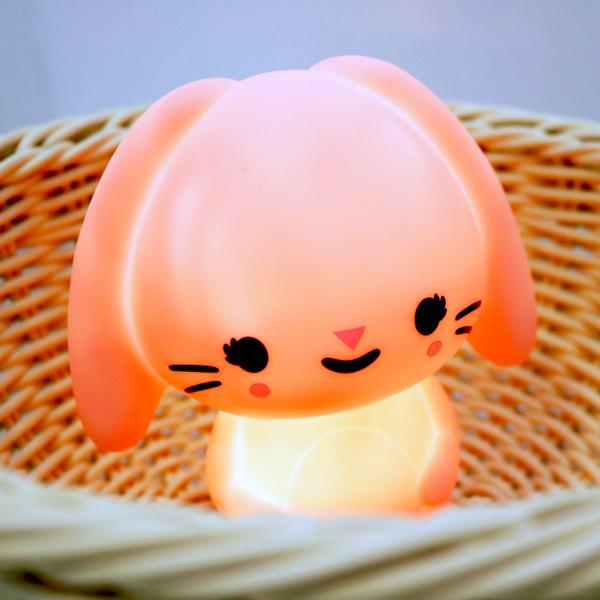 (複製)Petit Monkey|垂耳兔裝飾夜燈-粉紫