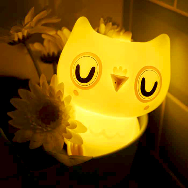 Petit Monkey|貓頭鷹裝飾夜燈-粉紫