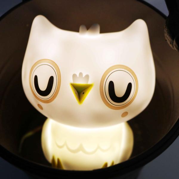 (複製)Petit Monkey 貓頭鷹裝飾夜燈-粉紅