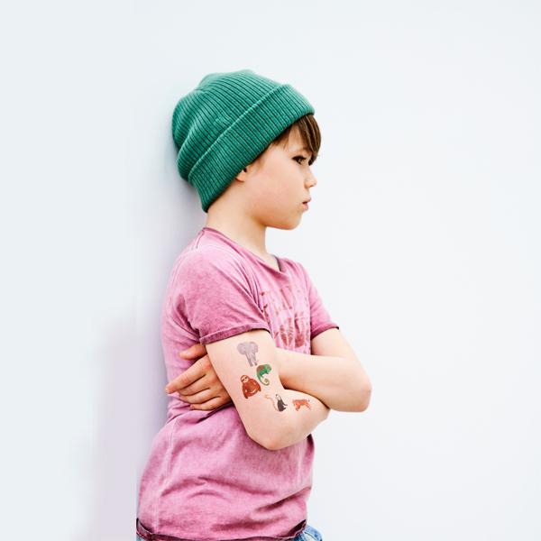 (複製)Petit Monkey|太陽先生與好朋友夜光紋身貼紙