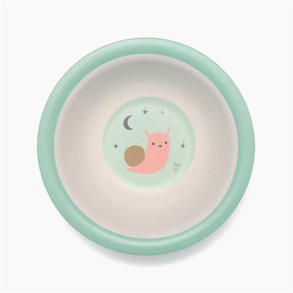 (複製)Petit Monkey|竹纖維餐碗-粉灰小鳥