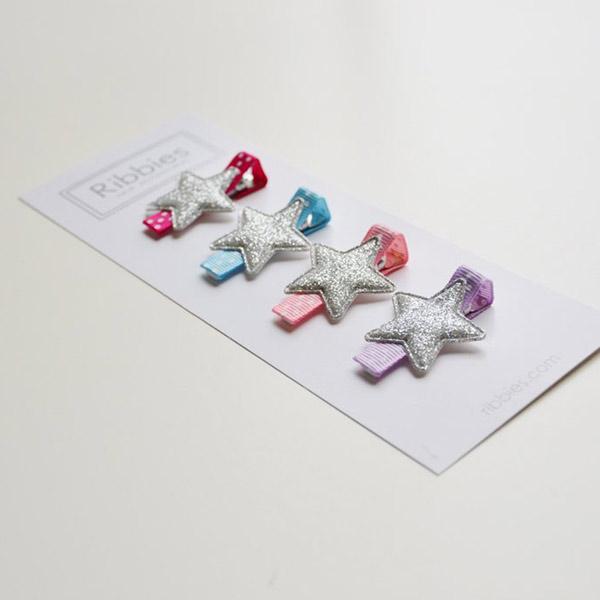 (複製)Ribbies|閃亮/粉紅/金愛心3入組-黑底