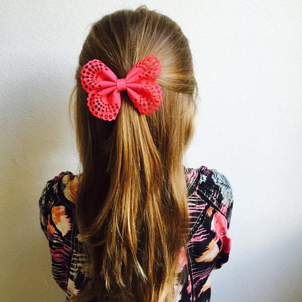 (複製)Ribbies| 典雅洞洞蝴蝶結髮夾(2入)-黃/玫瑰粉