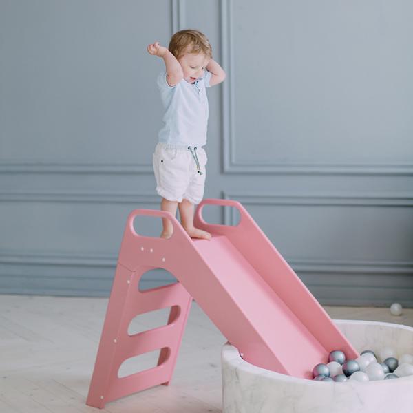 (複製)波蘭Misioo 高級木製溜滑梯-時尚灰