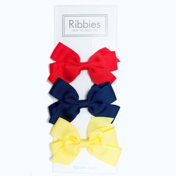 Ribbies 經典中蝴蝶結3入組-亮彩系列