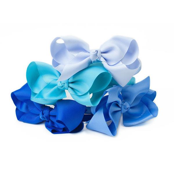 Ribbies 蝴蝶結髮圈-淺藍