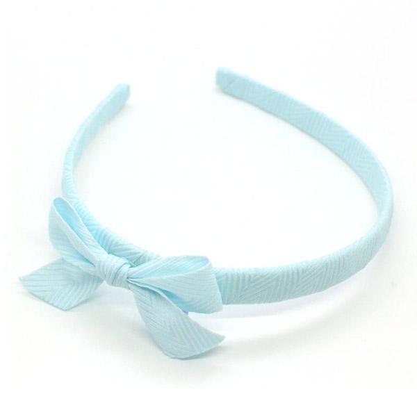Ribbies|雪弗蘭蝴蝶結髮圈-粉藍