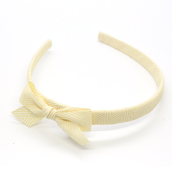 Ribbies|雪弗蘭蝴蝶結髮圈-粉黃