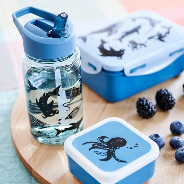 Petit Monkey|兒童水杯400(ml)-粉藍草尼馬與好朋友