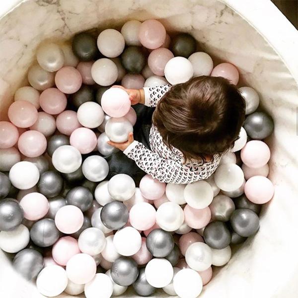 (複製)波蘭Misioo 遊戲球池-100x40淺灰(粉紅、珍珠白、珍珠灰、透明球四色400顆)