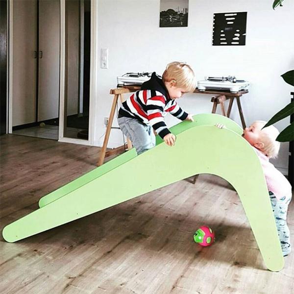(複製)Jupiduu 頂級木製溜滑梯-藍色