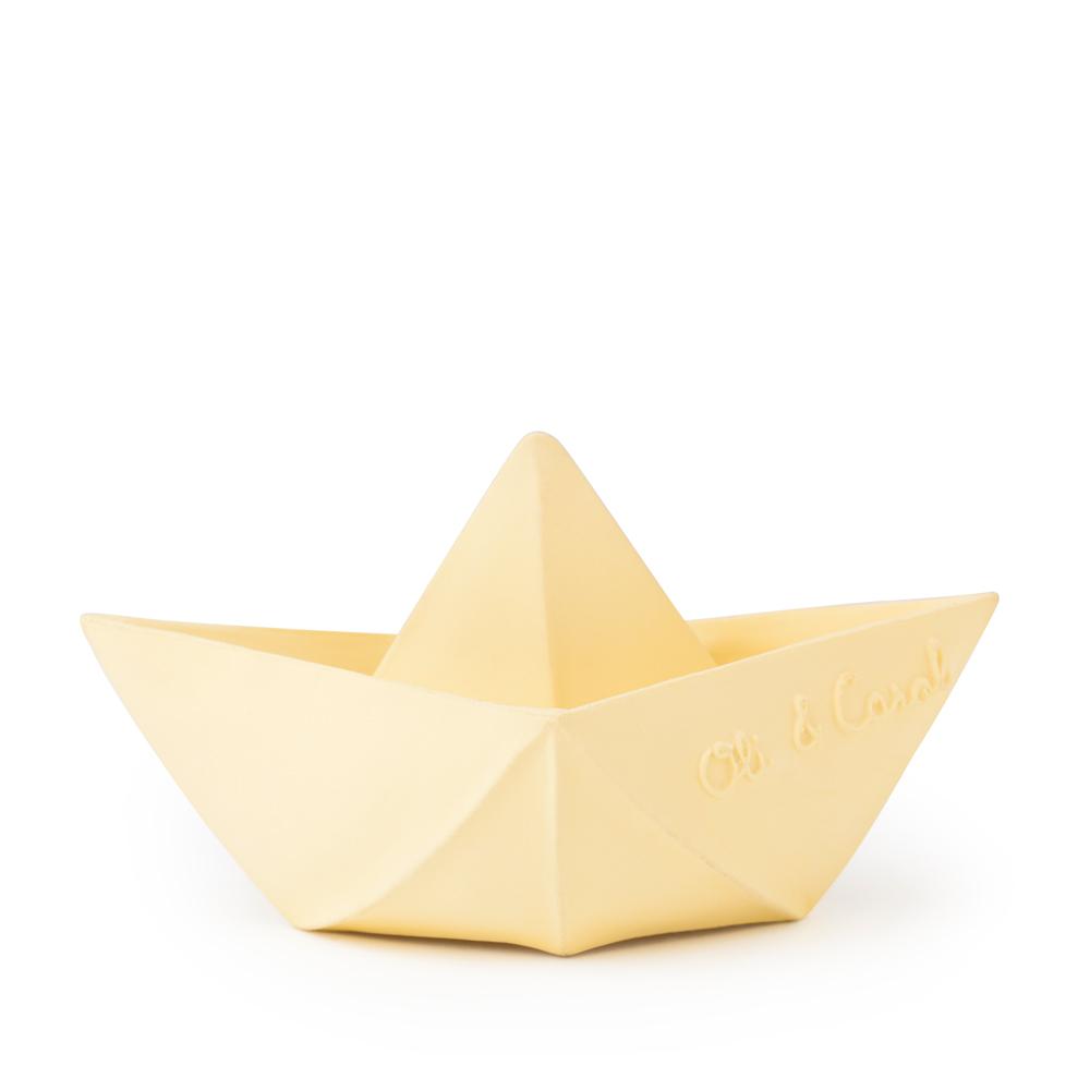 Oli&Carol|摺紙小船-粉黃