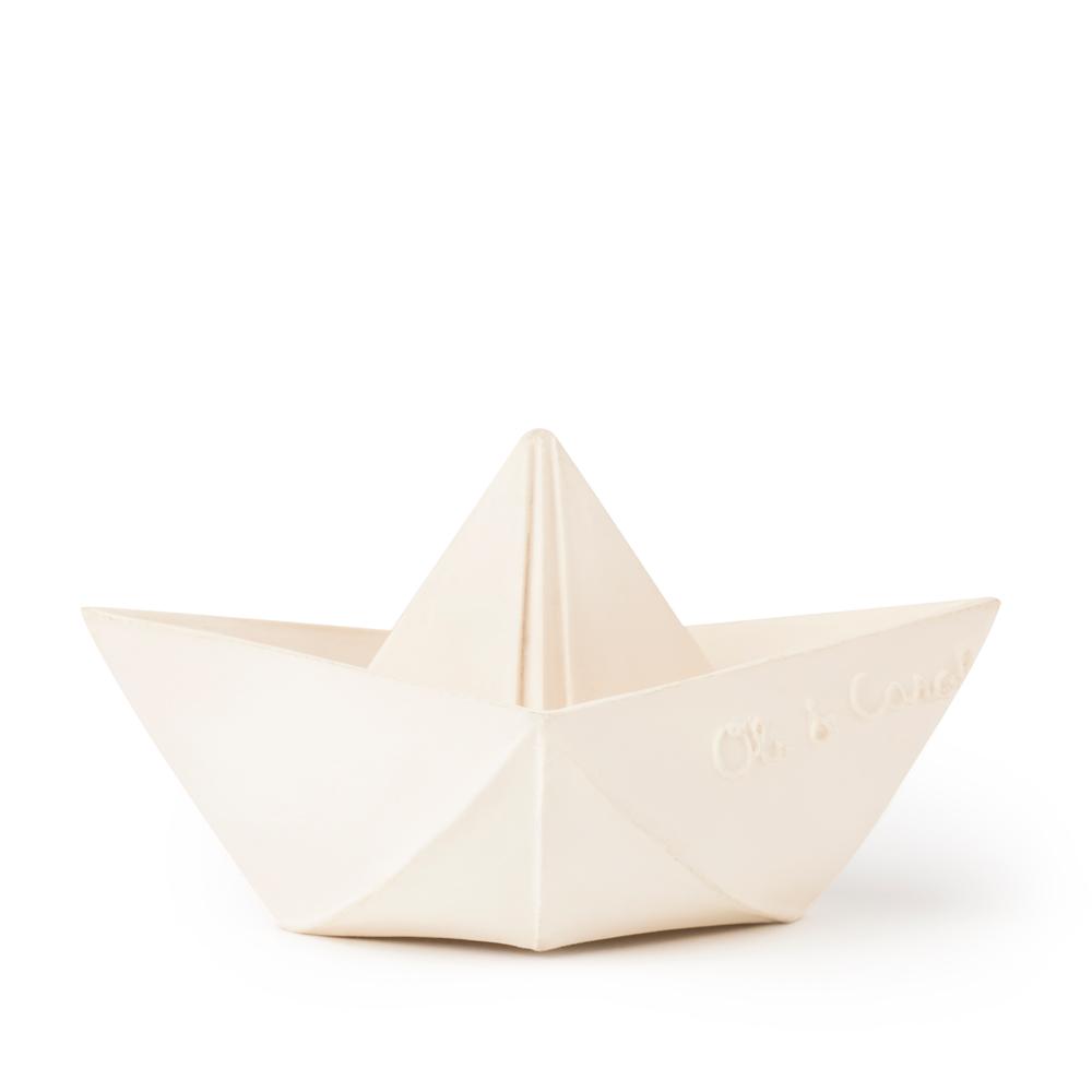 Oli&Carol 摺紙小船-粉白