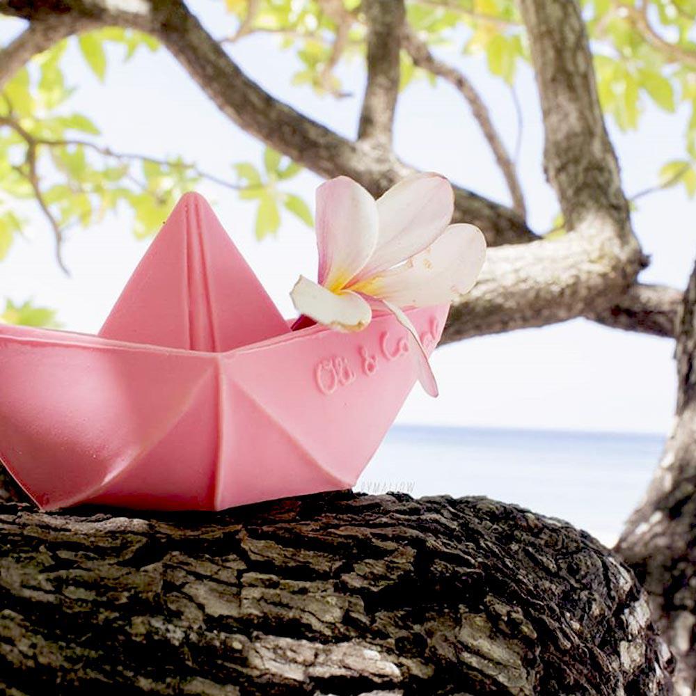 Oli&Carol|摺紙小船-粉紅