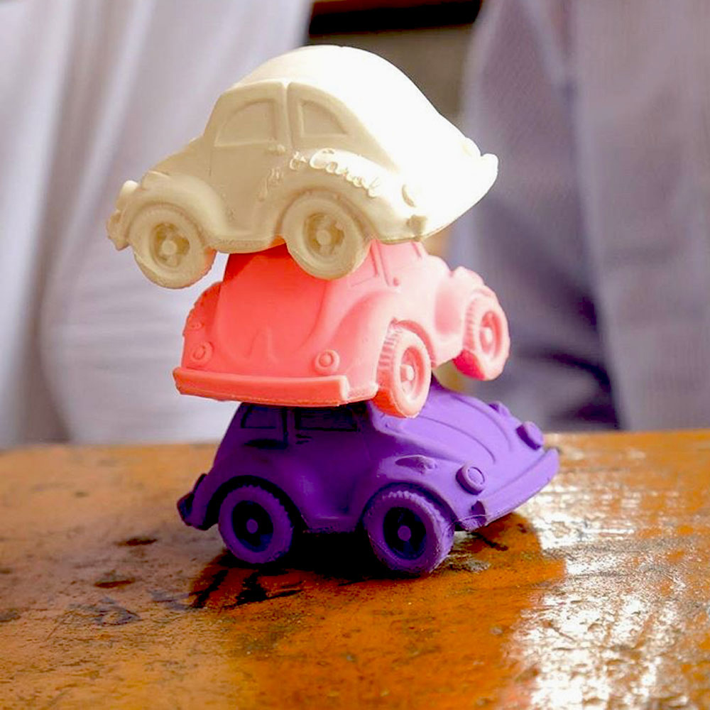 Oli&Carol|摩登小金龜車沐浴玩具-粉紅