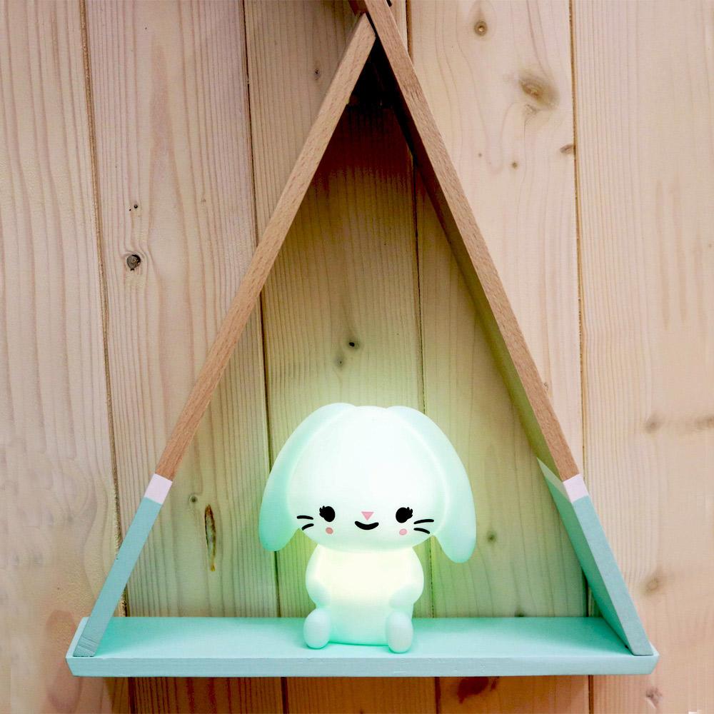 Petit Monkey|垂耳兔裝飾夜燈-粉綠