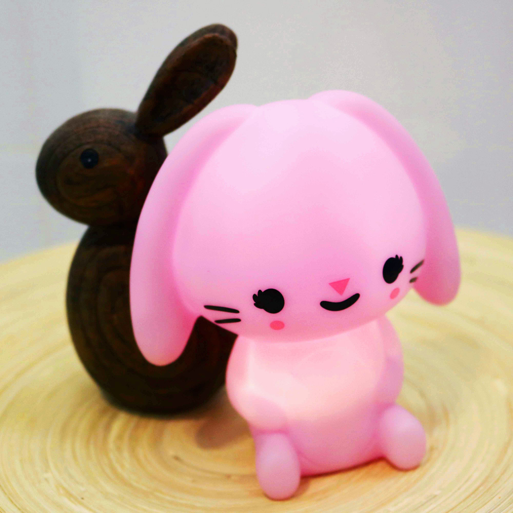 Petit Monkey|垂耳兔裝飾夜燈-粉紫