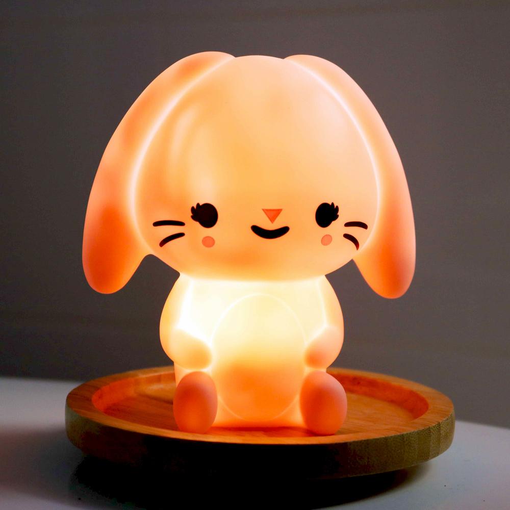 Petit Monkey|垂耳兔裝飾夜燈-粉紅