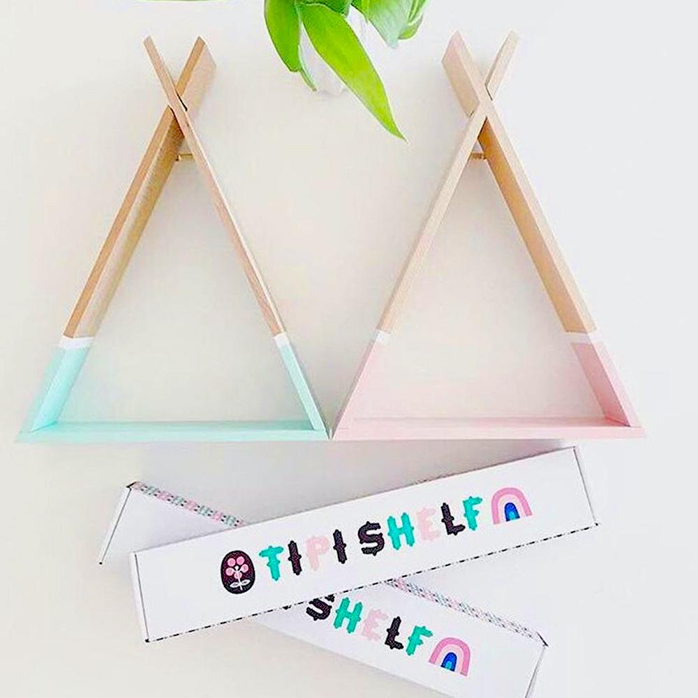 Petit Monkey|三角置物架-粉綠