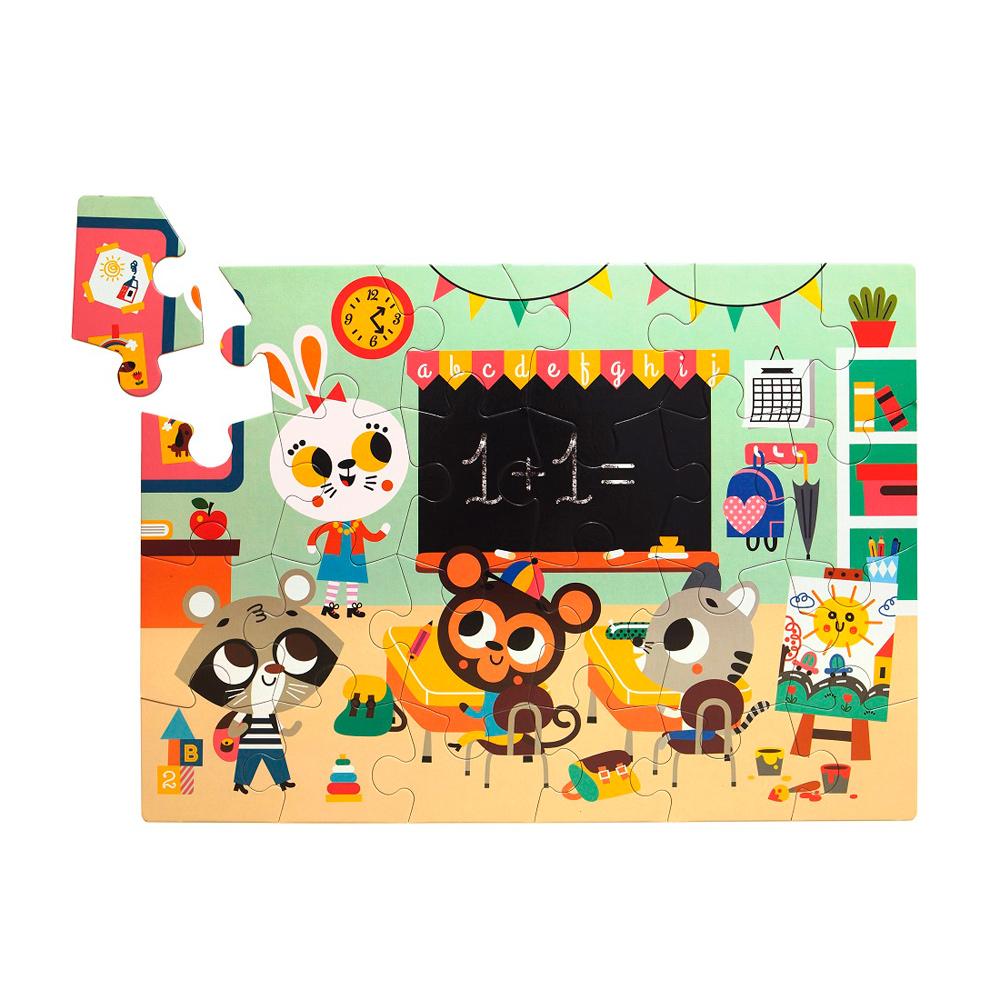 Petit Monkey|歡樂校園拼圖(24片/3Y+)