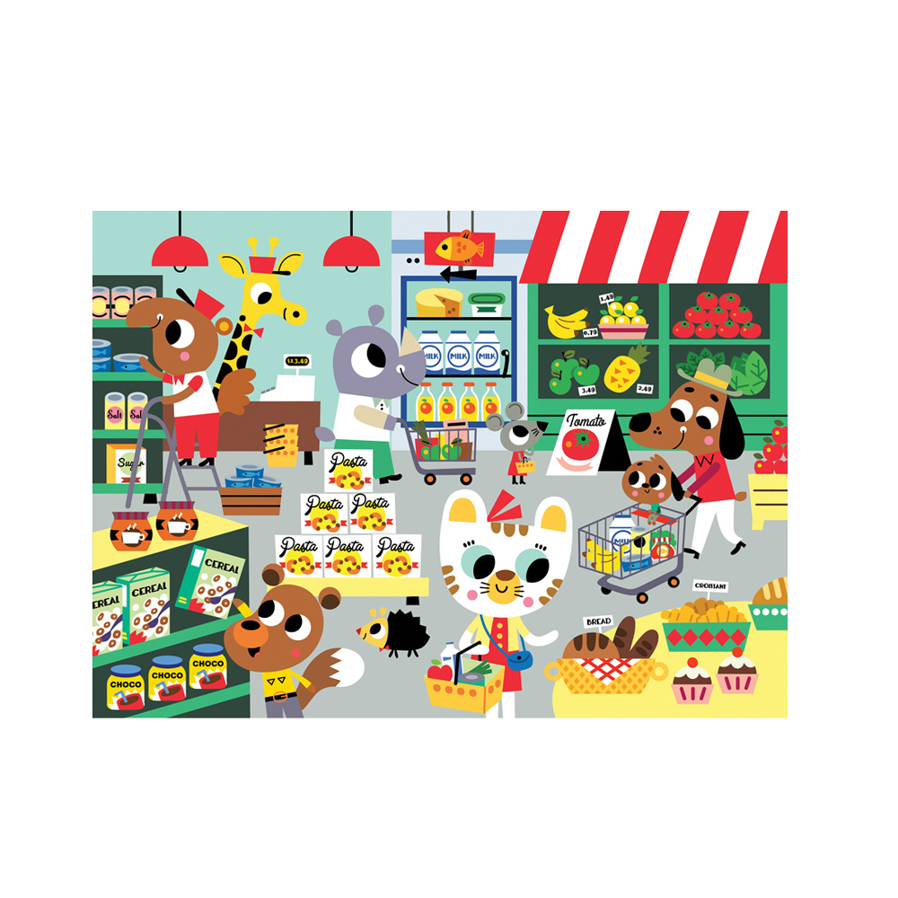 Petit Monkey|歡樂超級市場拼圖(48片/4Y+)