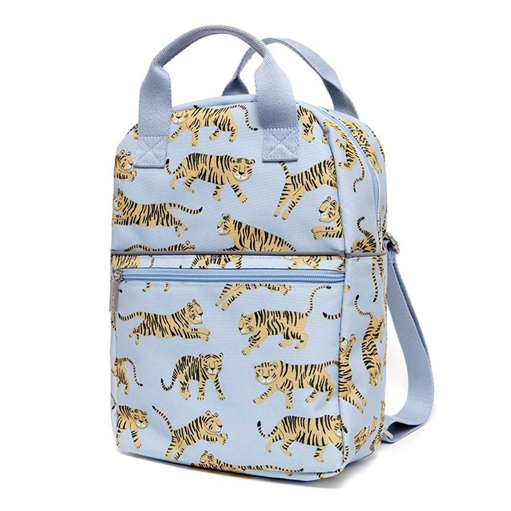 Petit Monkey 環保灰藍老虎小童背包-L號