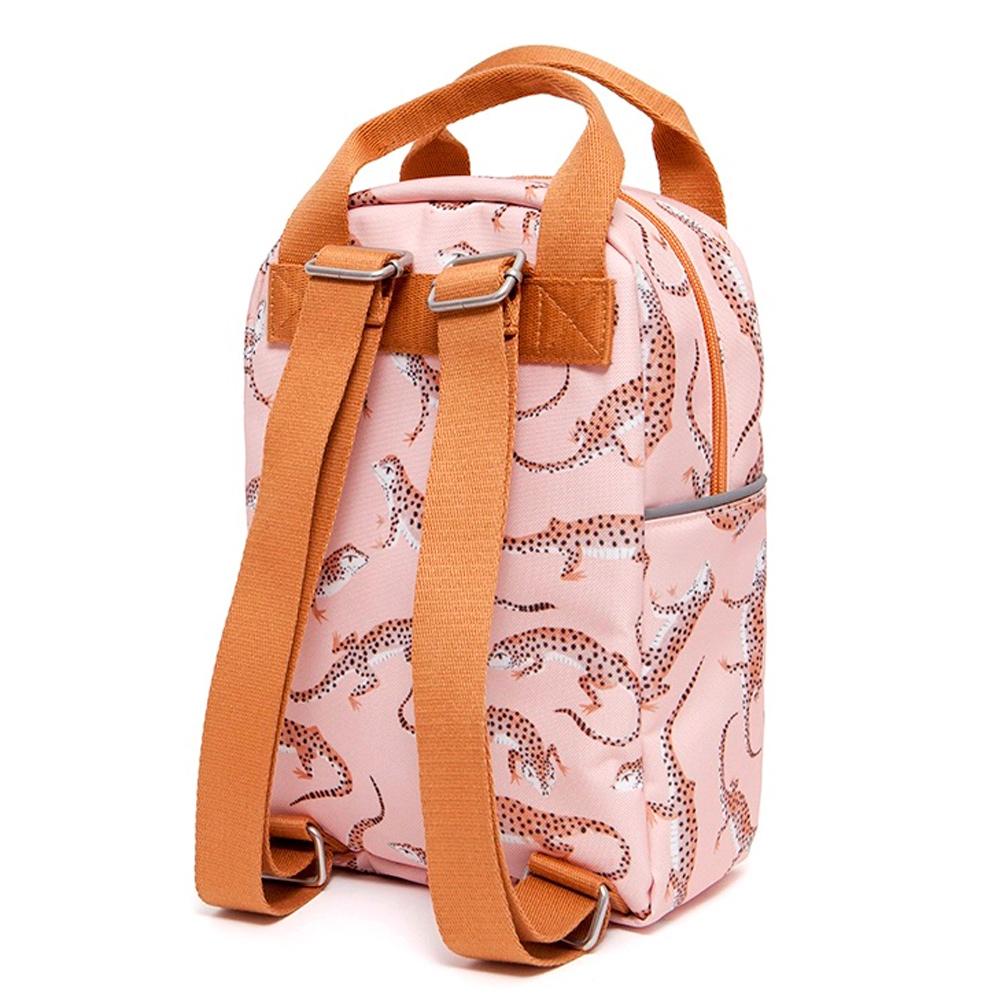 Petit Monkey|環保粉紅豹紋擬蜥小童背包-L號