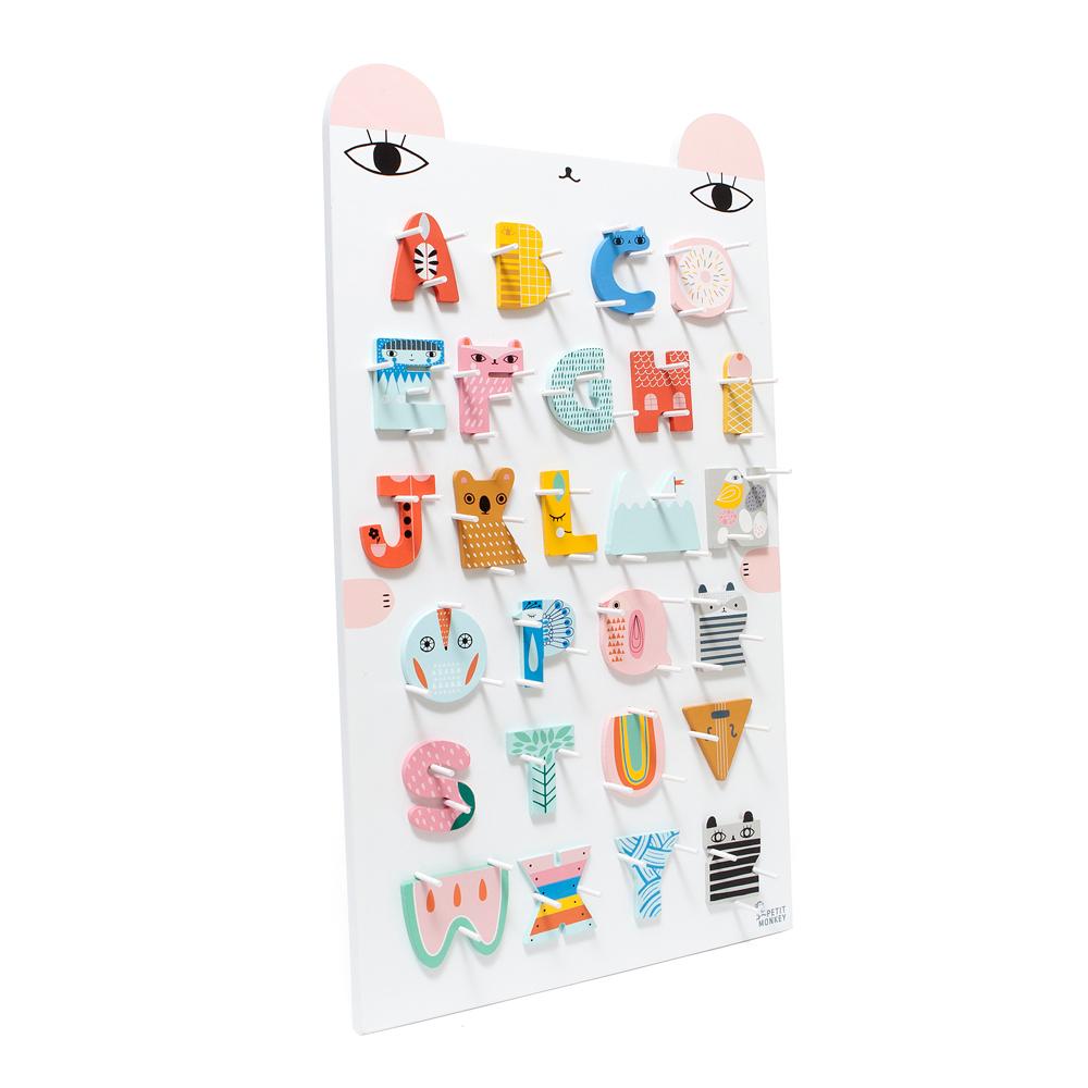 Petit Monkey|木頭字母A~Z + ABC字母小熊掛架