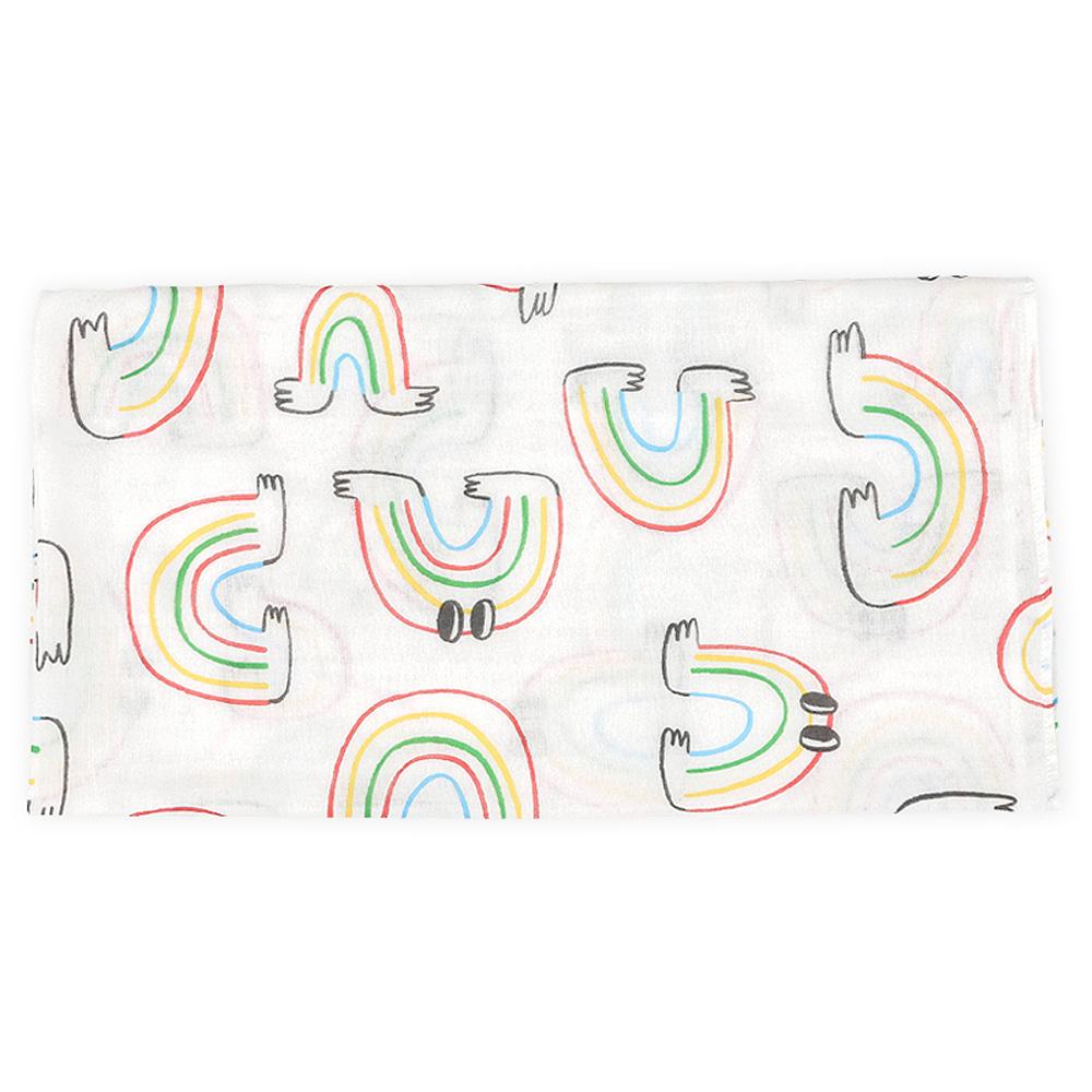 Daby|彩虹小怪獸純棉包巾