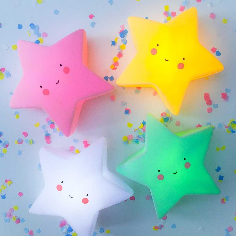 荷蘭A little lovely company 星星小夜燈-粉紅