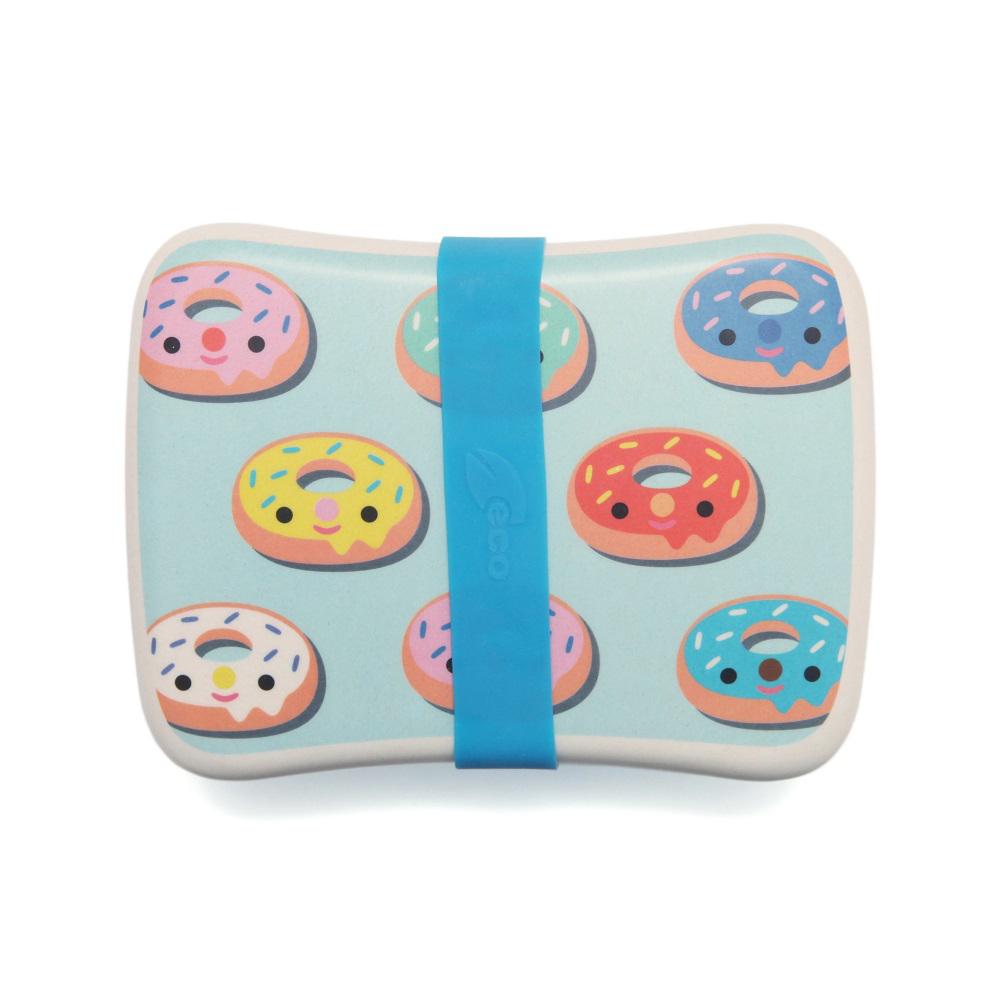 Petit Monkey|竹纖維野餐盒-粉綠甜甜圈