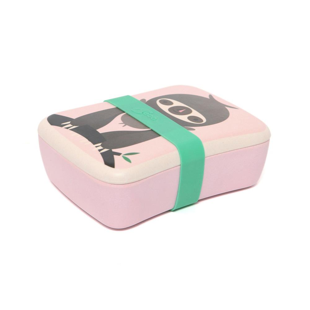 Petit Monkey|竹纖維野餐盒-粉紅樹獺