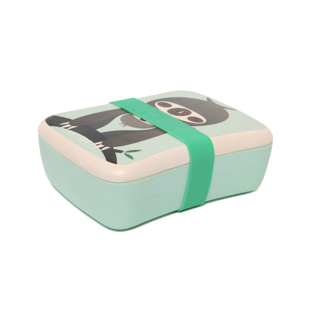 Petit Monkey|竹纖維野餐盒-粉綠樹獺