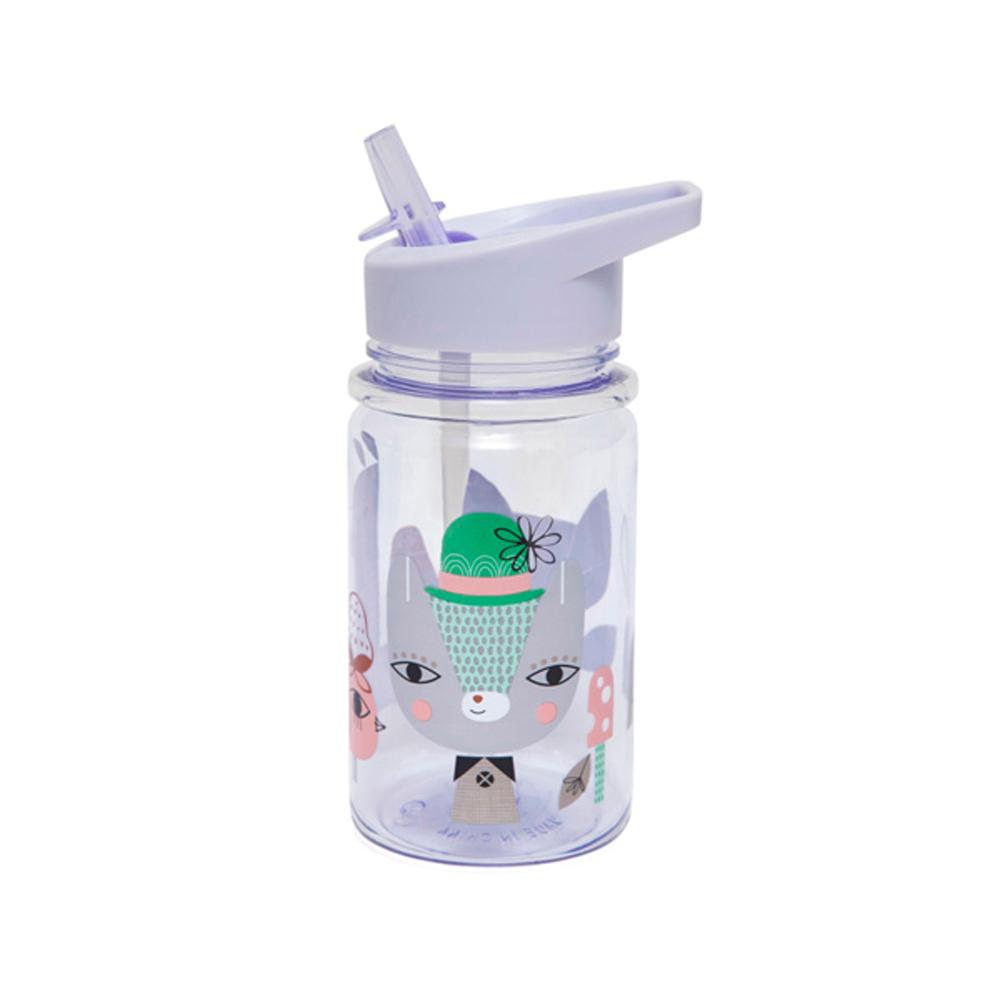 Petit Monkey|兒童水杯360(ml)-粉紫草尼馬與好朋友