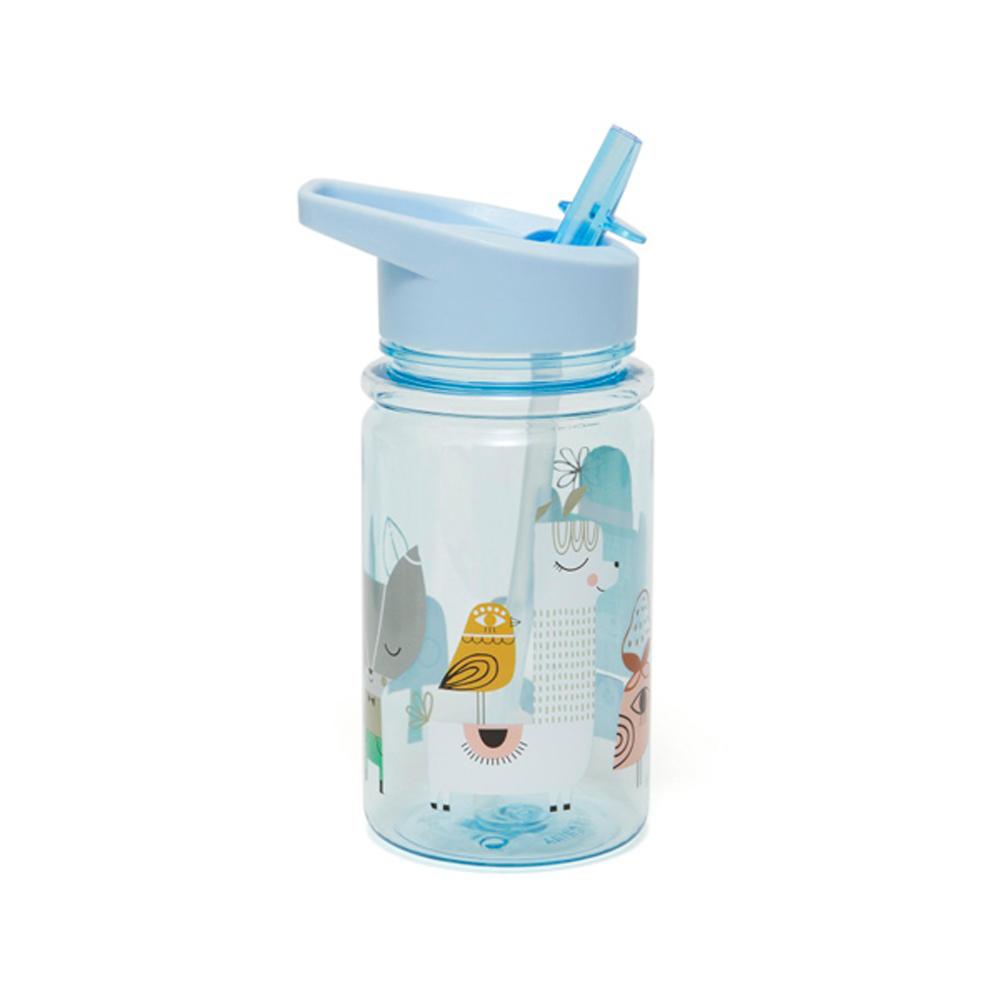 Petit Monkey|兒童水杯360(ml)-粉藍草尼馬與好朋友