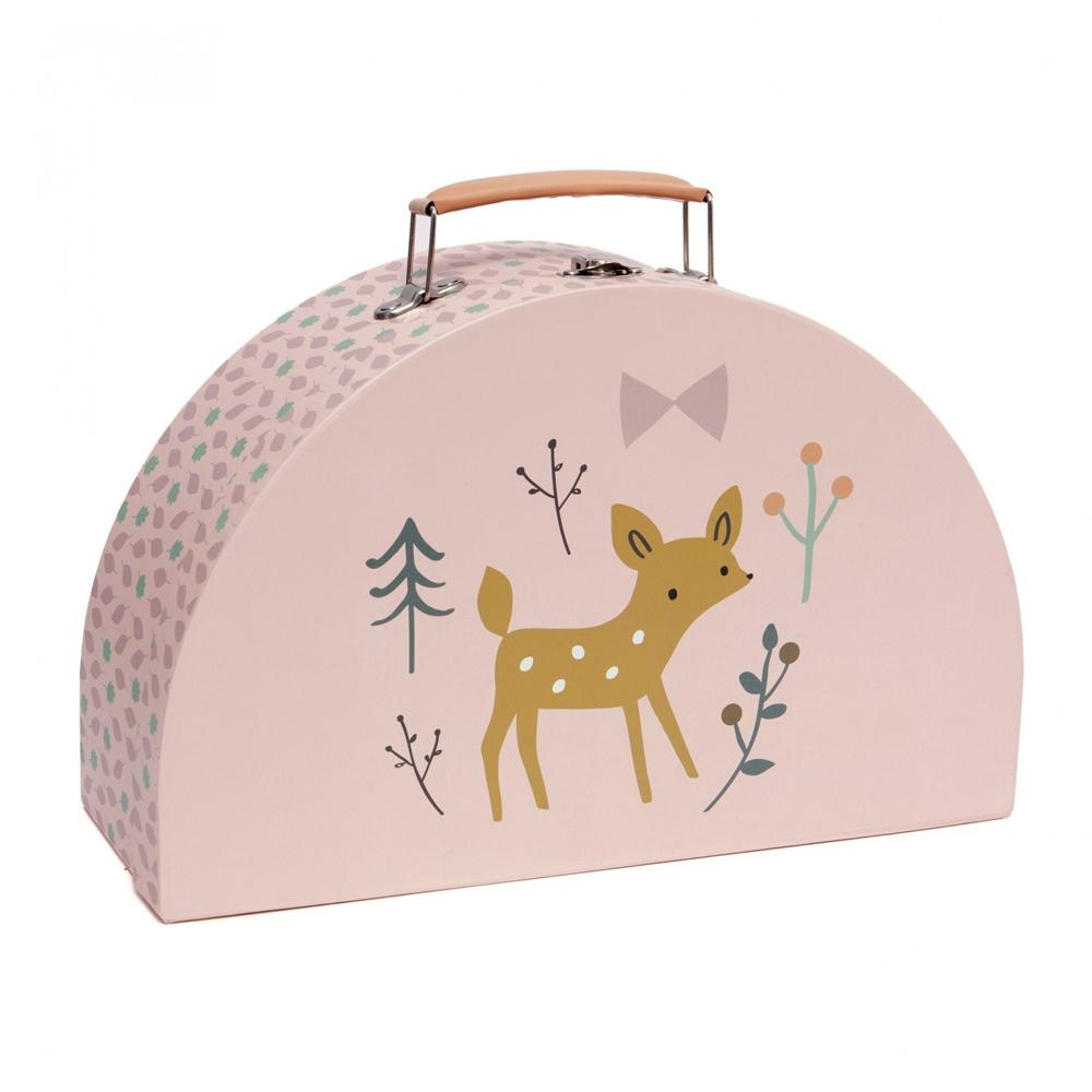 Petit Monkey 小鹿與小兔玩具收納手提箱(2入)