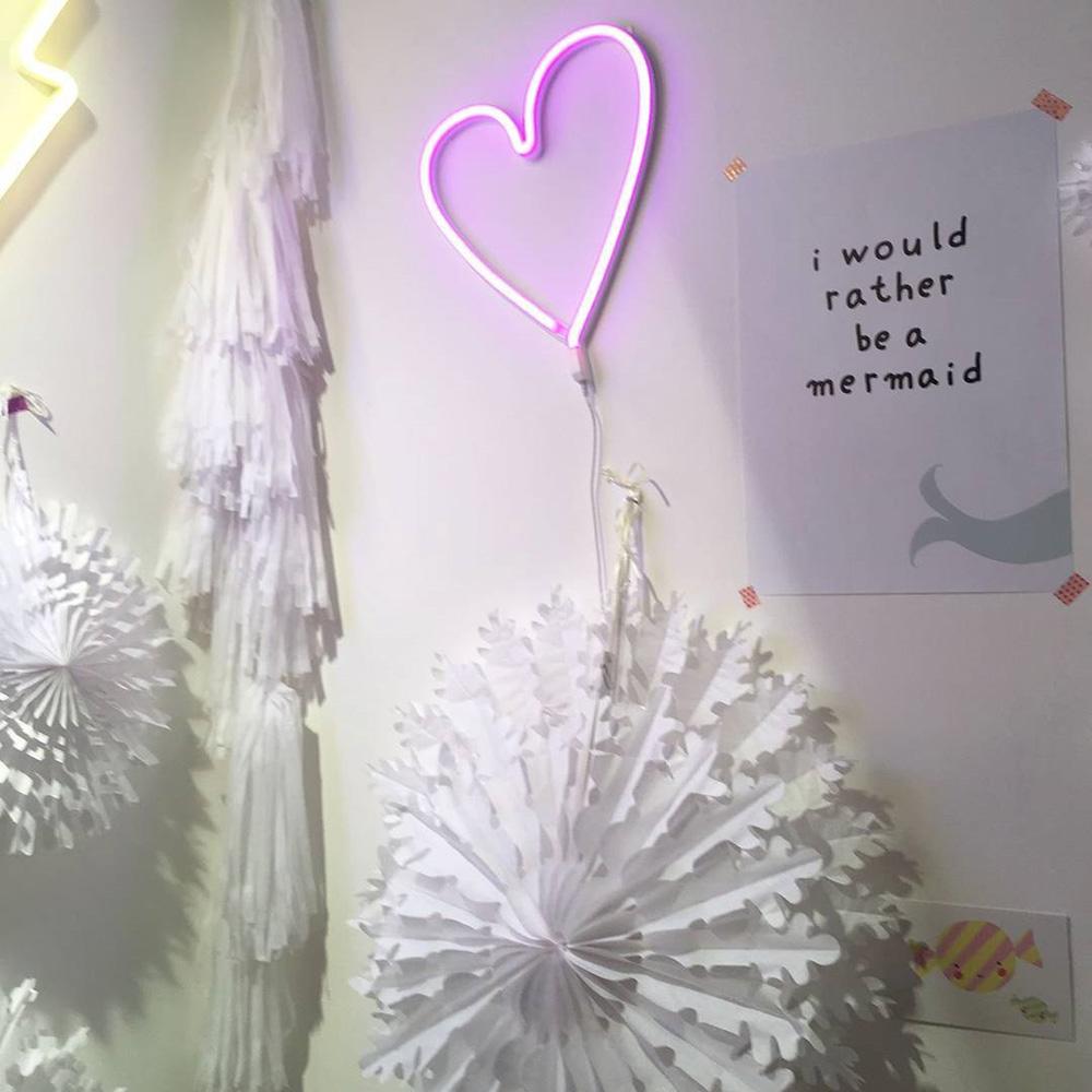 a little lovely company 愛心霓虹造型夜燈-粉紅