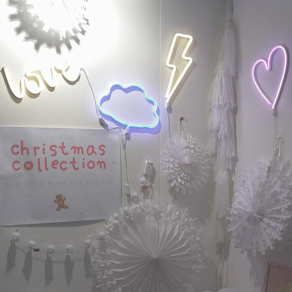 a little lovely company 雲朵霓虹造型夜燈-粉藍