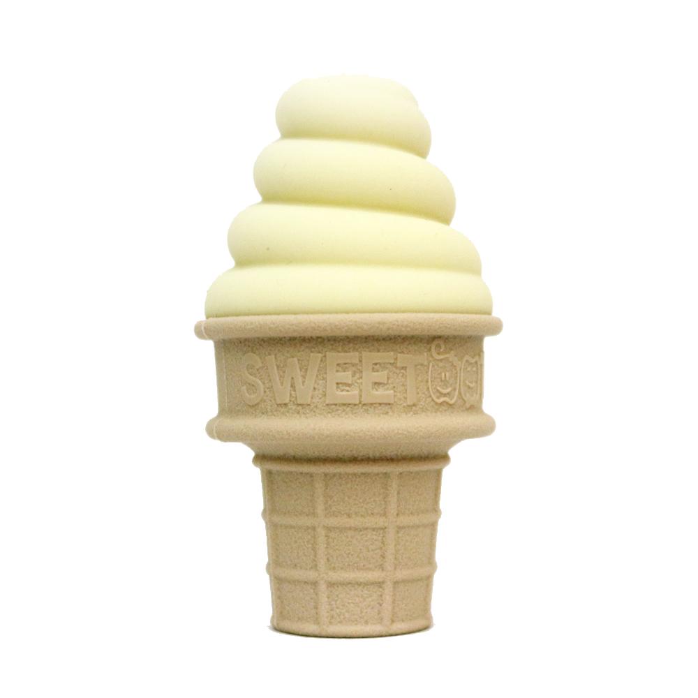 Sweetooth|香草冰淇淋固齒器(萊姆黃)+防掉帶(黃色)組合
