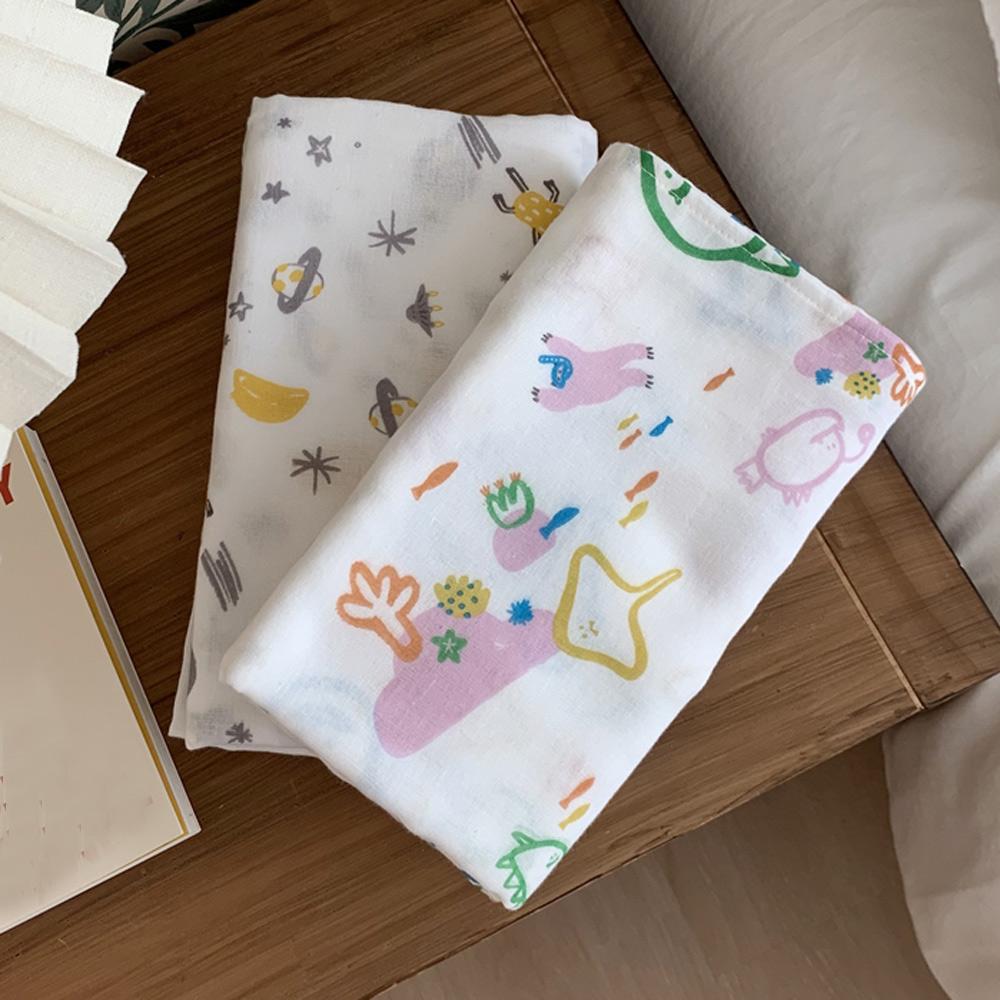 Daby|韓國Daby純棉包巾-歡樂星球