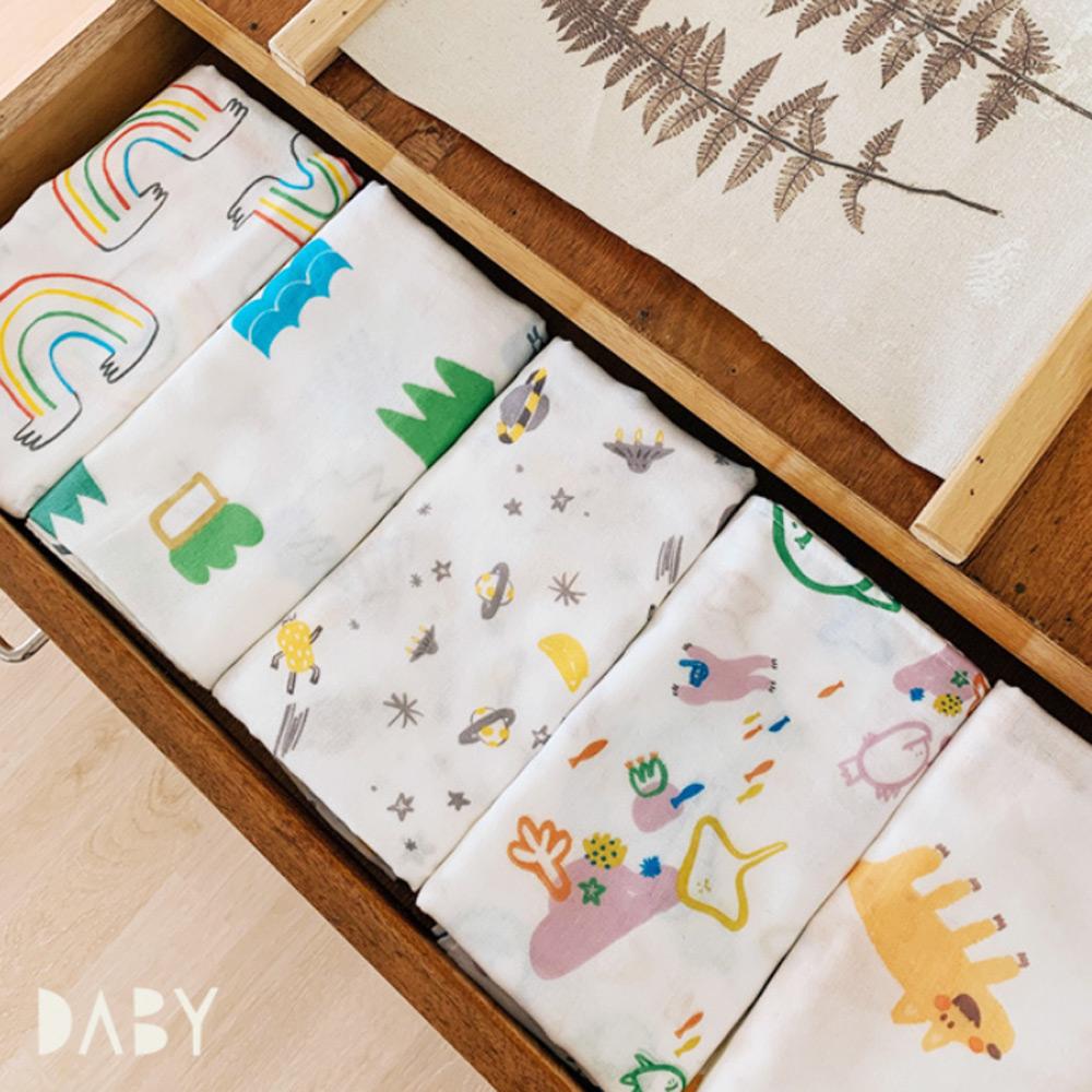 Daby|韓國Daby純棉包巾-海底世界