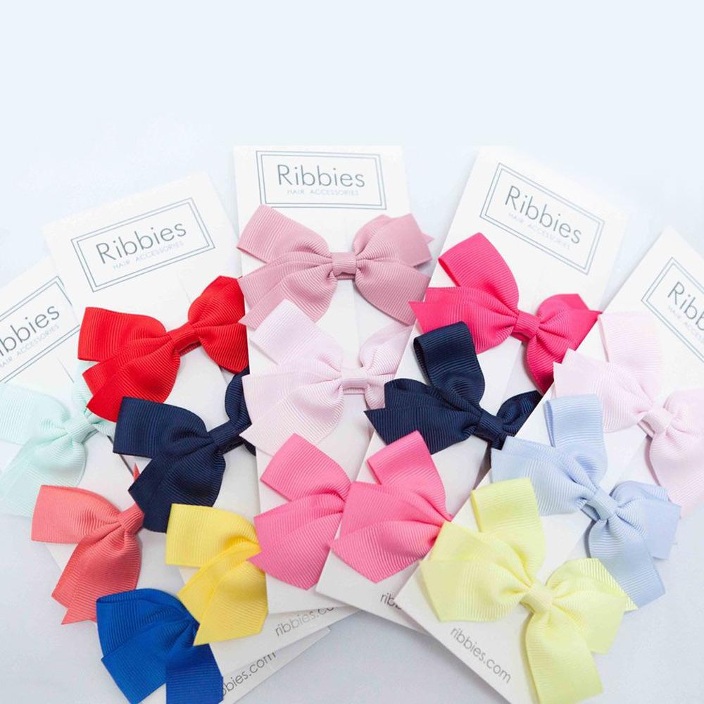 Ribbies|經典中蝴蝶結3入組-粉紅系列